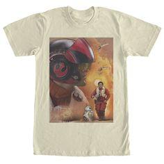 Star Wars The Force Awakens Men's - Poe Dameron X-Wing Pilot T Shirt