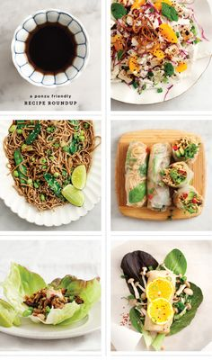 ponzu-friendly healthy recipes / @A Whole Lotta Love and Lemons