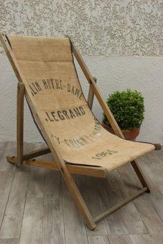 """Chilienne ou chaise longue """" Moulin Notre Dame """" / les couleurs de brocantine"""