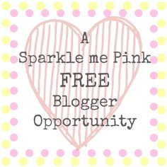FREE Blogger Opportunity http://sparklemepink88.blogspot.com/2013/02/a-sparkle-me-pink-blogger-opportunity.html