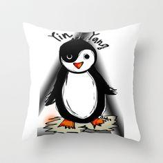 Yin Yang Penguin Throw Pillow by sladja Yin Yang, Penguins, My Design, Throw Pillows, Stuff To Buy, Accessories, Toss Pillows, Cushions, Penguin