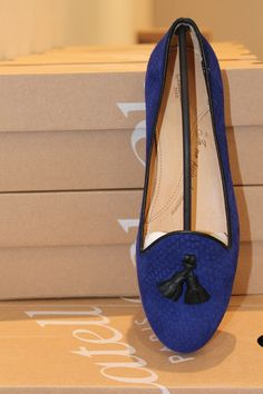 """""""Honoré"""" Chatelles (klein blue fishcale patterned leather)"""