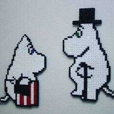 Moomin hama beads by liljahenna Hama Beads Patterns, Beading Patterns, Knitting Patterns, Diy Perler Beads, Iron Beads, Fuse Beads, Bead Art, Pixel Art, Cross Stitch Patterns