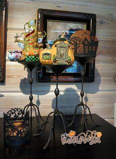 Halloween decoration outdoors & indoors - halloween koristeita sisällä ja pihalla