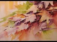"""FALL FOLIAGE"" Transparent Watercolor Demonstration - Negative Painting - YouTube"