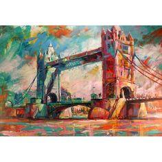 London Bridge, Acrylic on Canvas by Australian Artist Jos Coufreur. www.joscoufreur.com