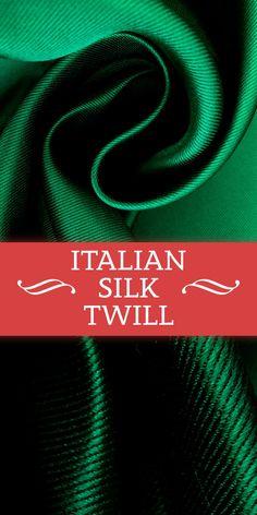 Italian Double Face Twill Back Silk Satin in Emerald (Made in Italy - Silk) B And J Fabrics, Textile Fabrics, Kinds Of Fabric, Fabric Names, Art N Craft, Color Boards, Office Attire, Fashion Fabric, Silk Satin