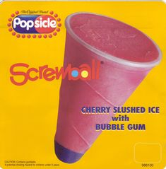 The Screwball...this was my favorite choice when the ice cream truck came around when I was little- couldn't wait to get to the bottom for the gumball!!!!!!