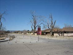 This is what is left of George AFB near Victorville, California. It was closed in December of 1992