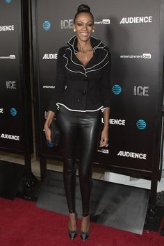 Judith Shekoni attends the premiere of AT&T Audience Network's 'ICE'