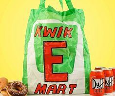 Show off your Springfield pride as you do your part for the environment by using the Kwik-E-Mart reusable bag for all your shopping needs. The bag is sturdy enough to handle the weight of your weekly supply of Duff beer, donuts, and hotdogs dangerously past their expiration.