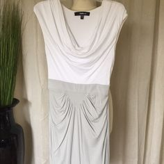 Bebe cotton stretch dress. Perfect for the summer! The skirt is double layer stretch cotton. bebe Dresses Midi