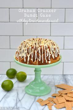 graham cracker bundt cake with key lime cheesecake swirl   Brooklyn Homemaker