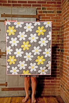 Whole Cloth Baby Quilt. $80.00, via Etsy.