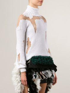 Anne Sofie Madsen Distressed Roll Neck Sweater - H. Lorenzo - Farfetch.com