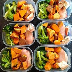 "#1 Meal Plan & Prep Tool on Instagram: ""Staple #paleo and #glutenfree prep by @glutenfree_gelder of chicken, sweet potato, and broccoli  - If you want to build a custom food list and meal plans to fit any diet, allergy, and sensitivity then download @mealplanmagic to meal prep YOUR way!"