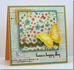 Have a happy day ~ Card by Tammy Hershberger ~ Stamps from Kitchen Sink