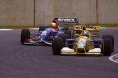 Michael Schumacher su Benetton-Ford 1992. Michael Schumacher, Ford, Benetton, Formula One, Race Cars, Ferrari, Automobile, Classic, Formula 1