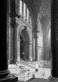 The original Penn Station in New York City, the most amazing Beaux-Arts building ever, designed by McKim, Mead and White and completed in 1910. Its demolition began in 1963. The Pennsylvania Plaza complex with the fourth Madison Square Garden was completed there in 1968.