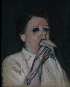 Bird .2010. 50 x 40cm. Oil on canvas  by Alexander Tinei