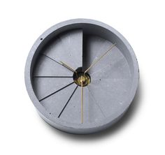 22designstudio 4th Dimension Concrete Table Clock - Gold | the OBJECT ROOM