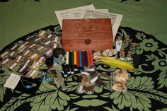 DELUXE GREENMAN STARTER Kit, Herb Box ,Witches Spell Box,Altar Kit,Wiccan Herbs