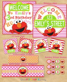 Elmo Birthday Party Package $29.00 - finally picked this as the printable decor!