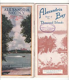 Vintage 1000 Islands travel brochures Alexandria Bay NY - where Gary and I honeymooned Saint Lawrence River, St Lawrence, Alexandria Bay, Thousand Islands, Travel Brochure, I Love Ny, Beautiful Places In The World, New York Travel, Whistler