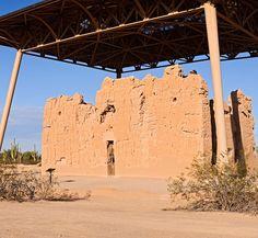 Big House, Hohokam Indian four storey caliche, not adobe ...