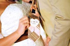 hand-sewn wedding day reminder