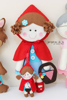 Red Riding Hood would be a cute page for a quiet book...lots of items to pull out of her basket, tie her cape, etc.