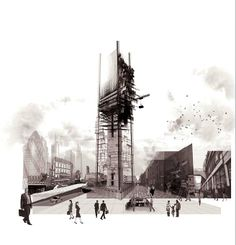 Simon Clements, District Rising, MArch Architecture, UWE Bristol, http://courses.uwe.ac.uk/K10B1