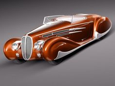 Delahaye T165 1939 [D*mn, that is pretty. Give me a sleek, silk suit & I'll hit the boulevard. ~sdh/]