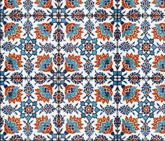 The Lata Tile ~ Fire and Ice fabric by peacoquettedesigns on Spoonflower - custom fabric
