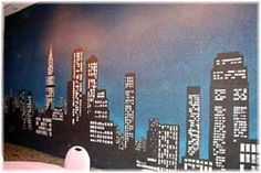 NYC Skyline Mural - need one of these