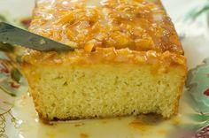 Orange Marmalade Bread - Flour, sugar, baking powder, plain yogurt, salt, eggs, lemon zest, vanilla, canola oil, and orange marmalade.