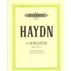 Haydn Franz Joseph Six Sonatas Op 8 from Hob VI Volume 1 Nos 1-3 Two Violins and Piano cello ad lib by Peters. $20.70. Haydn Franz Joseph Six Sonatas Op 8 from Hob VI Volume 1 Nos 1-3 Two Violins and Piano cello ad lib. Save 10% Off!