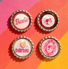 4 Different Sets of Barbie Inspired Bottle caps To Choose From Perfect for Scrap booking, Jewelry Making, Card Making, Magnets, Party Favors...