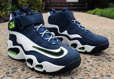 0dcebf2de1a8 Extra Off Coupon So Cheap Mens Nike Air Griffey Max Midnight Navy  White   Neon Green  Black.