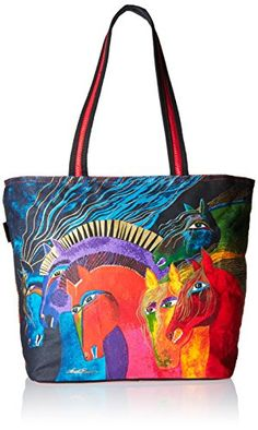 Laurel Burch Shoulder Tote Zipper Top 19Inch by 7Inch by 15Inch Wild Horses of Fire >>> You can get more details by clicking on the image.