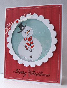 Christmas Card - I could change the picture to all sorts of cheerful images for Christmas!