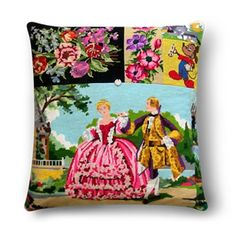 Pillow made of old embroideries