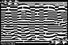 MAZE of the word ARIES using the Op Art Font