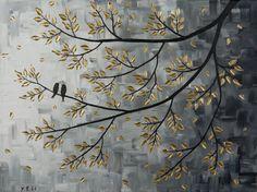 Original art wall decor Textured Impasto acrylic di QiQiGallery