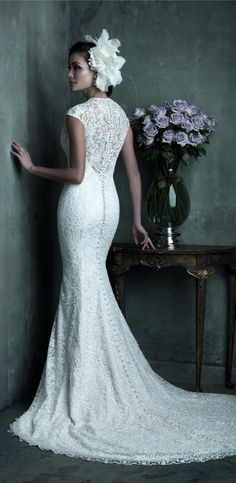 wedding dress wedding dresses love this lace wedding dresses #empire