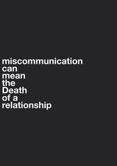 Miscommunication in relationships