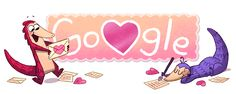 In ❤️  with #PangolinLove. Happy Valentines! #GoogleDoodle
