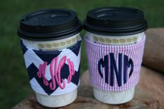 Personalized Coffee Cup Cozy by SouthernStyleStitche on Etsy