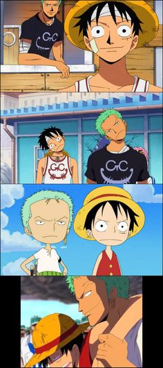 One Piece Luffy and Zoro - Gekiga Manga One Piece Crew, Watch One Piece, Zoro One Piece, One Piece Ship, One Piece Comic, One Piece Fanart, One Piece Tattoos, One Piece Funny, Manga Anime One Piece