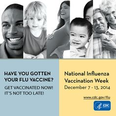 A yearly flu vaccine is recommended for everyone 6 months and older. Vaccination is especially important for protecting those at high risk for serious flu complications, including young children, pregnant women, adults 65 years and older or anyone with chronic health conditions like asthma, diabetes, and heart disease.